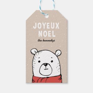 Etiqueta Para Presente Tag do presente do Natal de Joyeux Noel