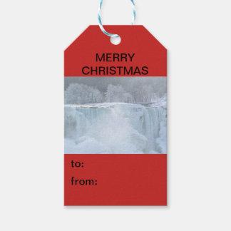 Etiqueta Para Presente Tag do presente do Natal de Niagara Falls