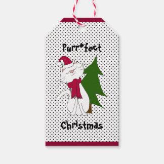 Etiqueta Para Presente Tag do presente do Natal de Purr*fect do gatinho