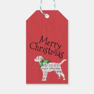 Etiqueta Para Presente Tag do presente do Natal do cão