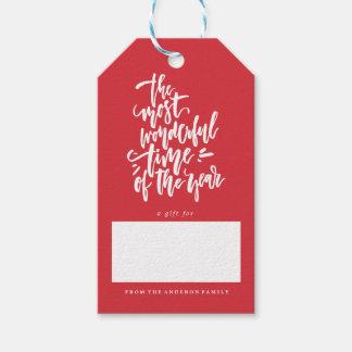 Etiqueta Para Presente Tag do presente do Natal do feriado do FELIZ NATAL
