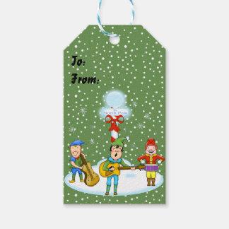 Etiqueta Para Presente Tag do presente do Natal dos duendes do músico