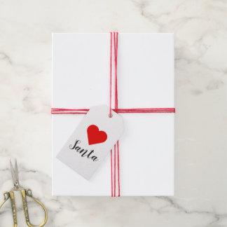 Etiqueta Para Presente Tag do presente do papai noel do coração