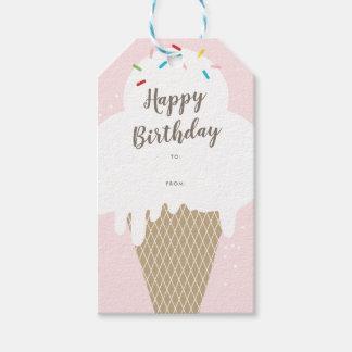 Etiqueta Para Presente Tag do presente do rosa do feliz aniversario do