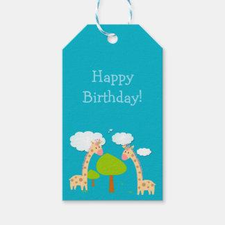 Etiqueta Para Presente Tag do presente dos girafas