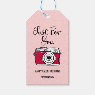 Etiqueta Para Presente Tag do presente dos namorados da câmera. Nós