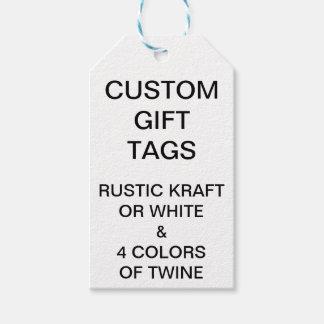 Etiqueta Para Presente Tag do presente & guita brancos customizáveis
