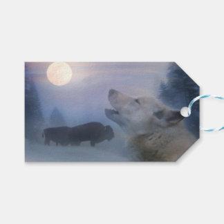 Etiqueta Para Presente Tag do sudoeste do presente do lobo e do búfalo