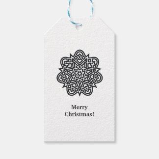 Etiqueta Para Presente Tag estilizado do estrela-Natal do Natal