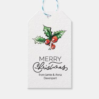 Etiqueta Para Presente Tag feito sob encomenda do Natal com elementos da