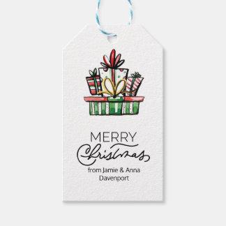 Etiqueta Para Presente Tag feito sob encomenda do Natal com presentes da