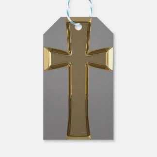 Etiqueta Para Presente Tag feitos sob encomenda transversais dourados do