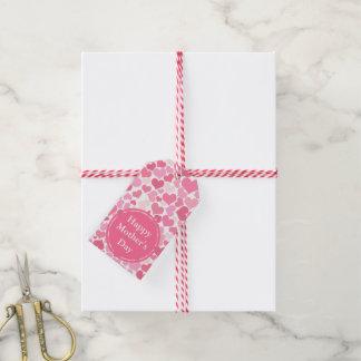 Etiqueta Para Presente Tag felizes cor-de-rosa do presente do dia das