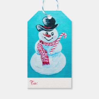 Etiqueta Para Presente Tag felizes do presente do boneco de neve