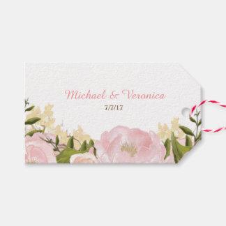 Etiqueta Para Presente Tag florais cor-de-rosa do presente