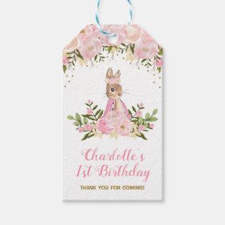 Etiqueta Para Presente Tag floral cor-de-rosa do presente do favor do