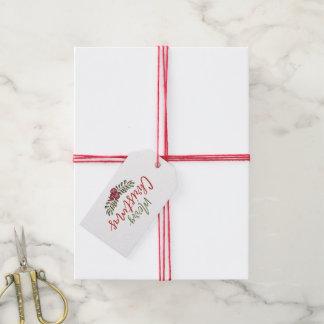 Etiqueta Para Presente Tag floral do presente da grinalda   do Natal