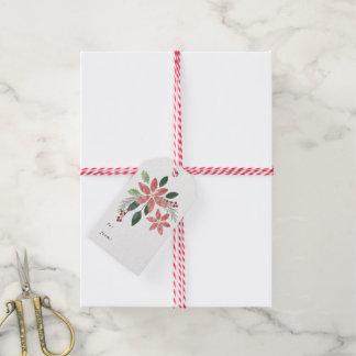 Etiqueta Para Presente Tag floral do presente de época natalícia