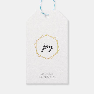 Etiqueta Para Presente Tag geométrico do presente da alegria