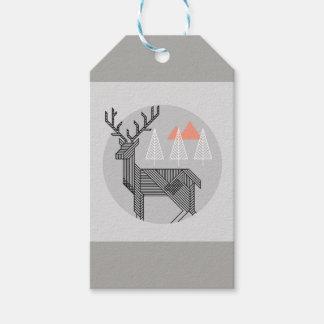 Etiqueta Para Presente Tag geométricos do Natal da rena