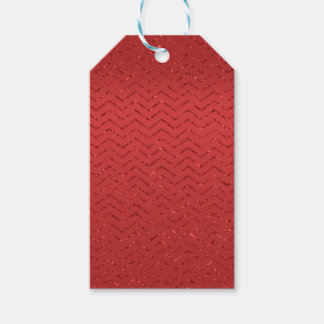 Etiqueta Para Presente Tag Glittery vermelho do presente do ziguezague