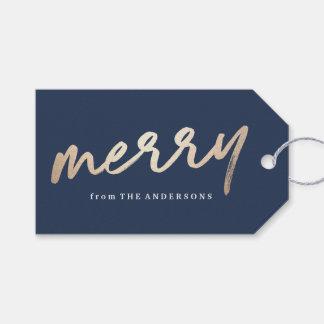 Etiqueta Para Presente Tag Luxe alegre do presente de época natalícia de