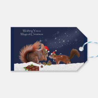 Etiqueta Para Presente Tag mágicos do presente do Natal