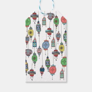 Etiqueta Para Presente Tag marroquino mágico do presente das lanternas