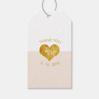 Etiqueta Para Presente Tag minimalista do presente do coração feito sob