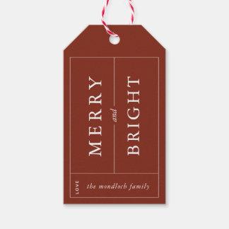 Etiqueta Para Presente Tag moderno alegre & brilhante do presente
