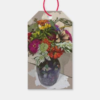 Etiqueta Para Presente Tag original do presente da arte da flor com vazio