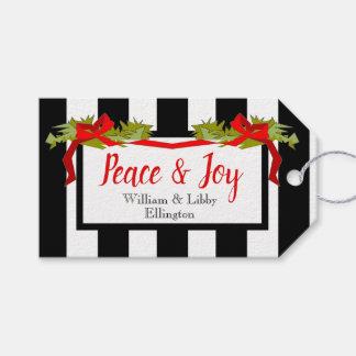 """Etiqueta Para Presente TAG """"paz & de Natal/feriados da alegria"""" do"""