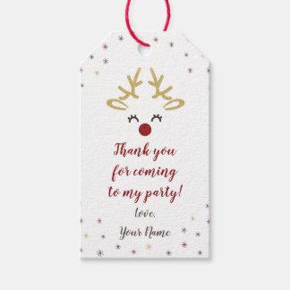 Etiqueta Para Presente Tag personalizados da festa de Natal da rena