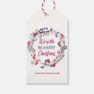 Etiqueta Para Presente Tag personalizados do presente do Natal da