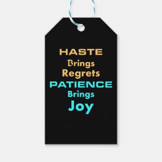 Etiqueta Para Presente Tag pessoal do presente da recompensa de Patence