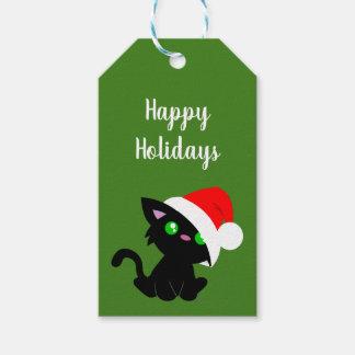 Etiqueta Para Presente Tag pretos do presente do gatinho do feriado