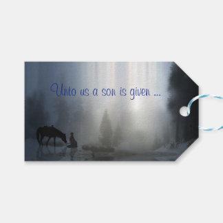 Etiqueta Para Presente Tag religiosos do Natal do país do vaqueiro e do