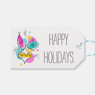 Etiqueta Para Presente Tag retros do presente de feriados do grupo dos