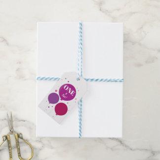 Etiqueta Para Presente Tag roxos do presente do aniversário | um e do