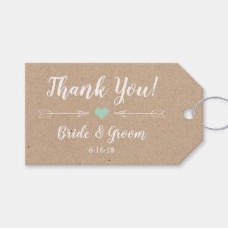 Etiqueta Para Presente Tag rústico do favor do casamento com setas
