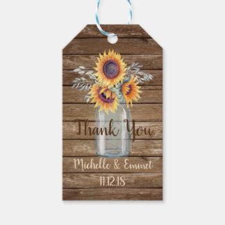 Etiqueta Para Presente Tag rústico do favor do girassol, favor Wedding,