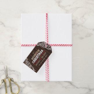 Etiqueta Para Presente Tag rústico do presente de época natalícia da