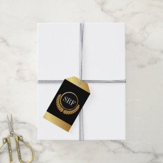 Etiqueta Para Presente Tag sofisticados do presente do olhar do ouro do