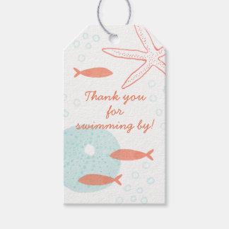 Etiqueta Para Presente Tag subaquático do presente da aguarela
