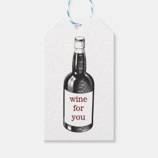 Etiqueta Para Presente Tag temático do presente do vinho ou da garrafa