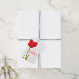 Etiqueta Para Presente Tag vermelho do presente da aguarela da flor da