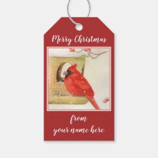 Etiqueta Para Presente Tag vermelhos do presente do arando do Natal do