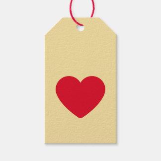 Etiqueta Para Presente Tag vermelhos do presente do biscoito do coração
