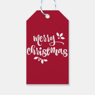 Etiqueta Para Presente Tag vermelhos do presente do Natal