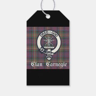 Etiqueta Para Presente Tartan da crista de Carnegie do clã